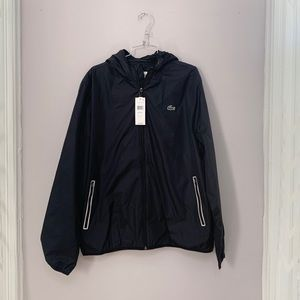 NWT Lacoste Black windbreaker Jacket